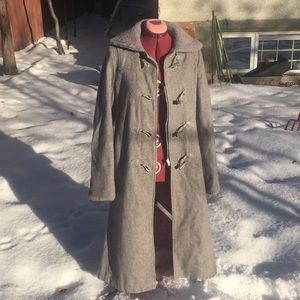 Jackets & Blazers - Long Grey Wool Coat